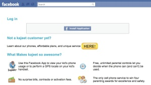 kajeet Facebook application