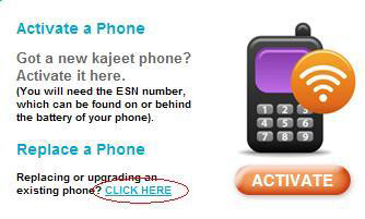 activating or replacing your kajeet phone